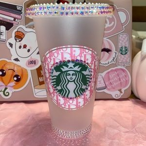 Starbucks Cold Cup with Dior decal